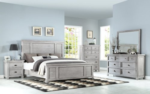 Emerald Home Warwick II Queen Bed Kit Grey B527-10-k