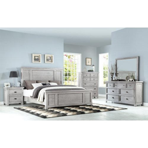 Emerald Home B527-01 Warwick II Dresser, Light Gray