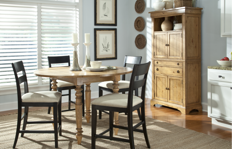Pleasant Grove Dining Group   Includes Table, 4 Stools And Storage Cabinet
