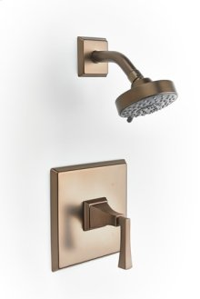Leyden Pressure-balance Shower Set Trim with Lever Handle - Bronze