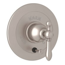 Satin Nickel Arcana Integrated Volume Control Pressure Balance Trim With Diverter with Arcana Series Only Classic Metal Lever