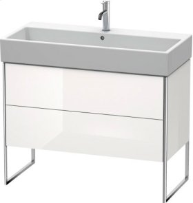 Vanity Unit Floorstanding, White High Gloss (decor)