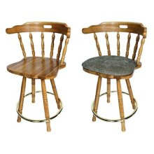 Brass Ring Swivel Barstool