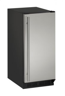 "1000 Series 15"" Crescent Ice Maker With Stainless Solid Finish and Field Reversible Door Swing (115 Volts / 60 Hz)"
