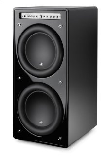 Dual 12-inch (300 mm) Powered Subwoofer, Black Gloss Finish