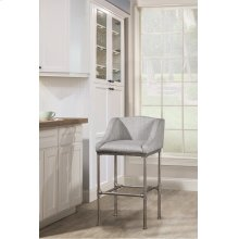 Dillon Stationary Bar Height Stool -textured Silver