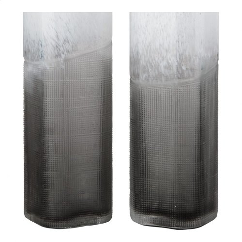 Barlow Vases Set Of 2 White And Grey