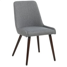 Mia Side Chair, set of 2, in Dark Grey & Walnut Legs