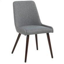 Mia Side Chair, set of 2, in Dark Grey & Walnut Legs