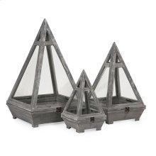 Kira Wood Terrariums - Set of 3