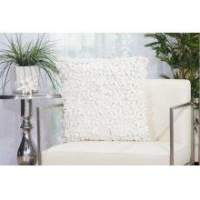 """Shag Dl058 White 20"""" X 20"""" Throw Pillows"""