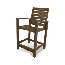Teak Signature Counter Chair