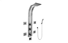 Square Thermostatic Ski Shower Set w/Body Sprays & Handshowers (Rough & Trim)