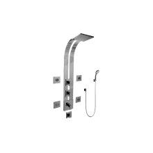 Square Thermostatic Ski Shower Set w/Body Sprays & Handshowers (Rough & Trim)