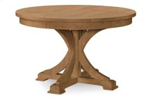 Everyday Dining by Rachael Ray Round to Oval Pedestal Table - Nutmeg