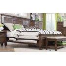 Franco Burnished Oak Queen Bed Product Image
