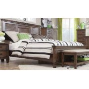 Franco Burnished Oak Queen Bed Product Image
