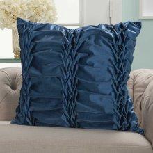 "Life Styles L0066 Navy 22"" X 22"" Throw Pillows"