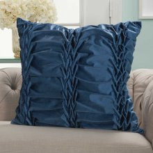 "Life Styles L0066 Navy 22"" X 22"" Throw Pillows"