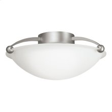 2 Bulb Semi Flush Ceiling Light NI