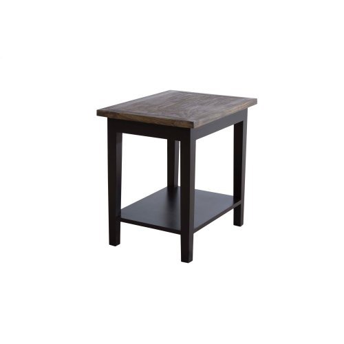 Accent Table, Available in Black Teak or White Teak Finish.