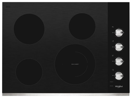 30-inch Electric Ceramic Glass Cooktop with Dual Radiant Element