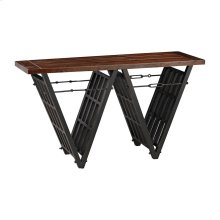 Industrial Era Console with Iron Stretcher