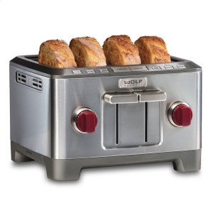 Wolf  Four Slice Toaster - Red Knob