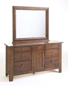Attic Heirlooms Door Dresser, Natural Oak Stain