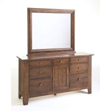 Attic Heirlooms Door Dresser, Natural Oak Stain