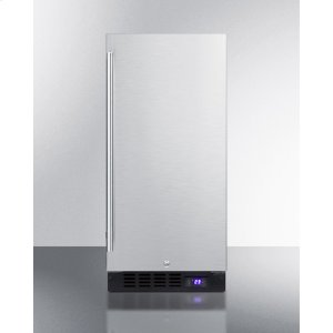"""Summit15"""" Wide Frost-free Freezer for Built-in or Freestanding Use, With Reversible Stainless Steel Door and Lock; Replaces Scff1537bss"""