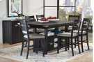 Altamonte Ladderback Counter Stool - Dark Charcoal Product Image