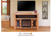 Lodge Fire Place & TV-Stand w/2 doors & space for soundbar