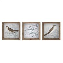 TY Nightingale Bird Wall Blocks - Ast 3