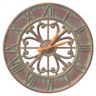 "Villanova 21"" Indoor Outdoor Wall Clock - Copper Vedigris Product Image"