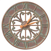 "Villanova 21"" Indoor Outdoor Wall Clock - Copper Vedigris"