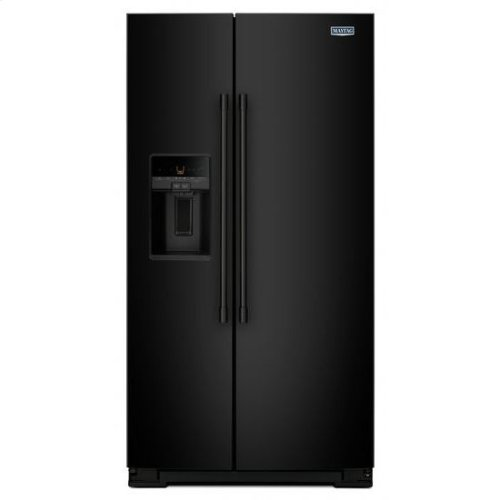 Maytag® 36- Inch Wide Side-by-Side Refrigerator with External Ice and Water- 26 Cu. Ft. - Black
