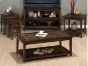 Baroque Brown Cocktail Table With Mosaic Tile Inlay