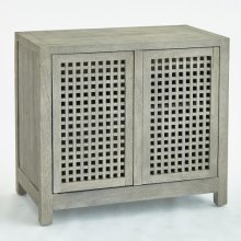 Driftwood Lattice Two-Door Cabinet-Grey