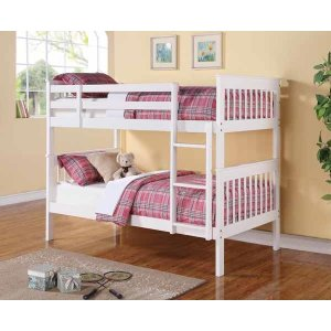 Chapman Traditional White Full-over-full Bunk Bed