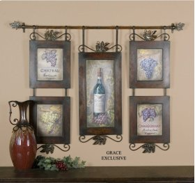 Hanging Wine Oil Reproduction