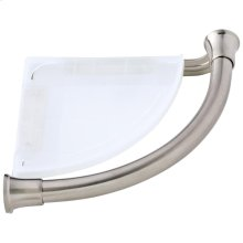 Stainless Transitional Corner Shelf with Assist Bar