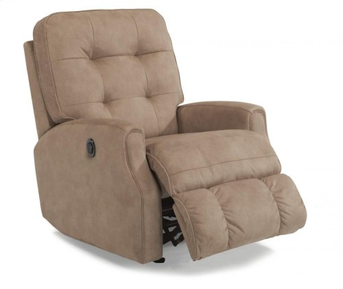 Devon Fabric Power Rocking Recliner without Nailhead Trim