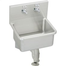 """Elkay Stainless Steel 21"""" x 17-1/2"""" x 12, Wall Hung Service Sink Kit"""