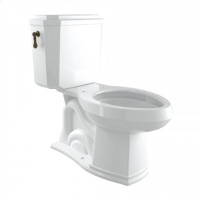 English Bronze Perrin & Rowe Deco Elongated Close Coupled 1.28 Gpf High Efficiency Water Closet/Toilet