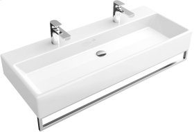 "Washbasin 39"" Angular - Matte White CeramicPlus"