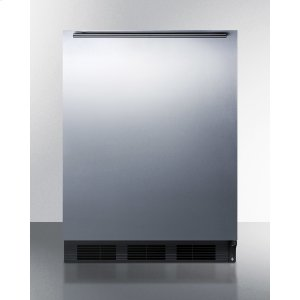 SummitBuilt-in Undercounter Refrigerator-freezer for General Purpose Use, With Dual Evaporator Cooling, Cycle Defrost, Ss Door, Horizontal Handle and Black Cabinet