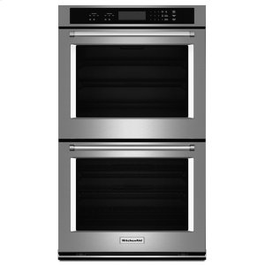"KitchenAid27"" Double Wall Oven with Even-Heat™ Thermal Bake/Broil - Stainless Steel"