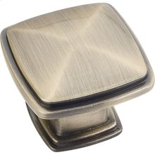 "1-3/16"" Overall Length Plain Square Cabinet Knob."