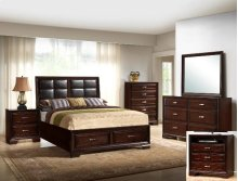 Jacob Queen Storage Bed Pu Headboar
